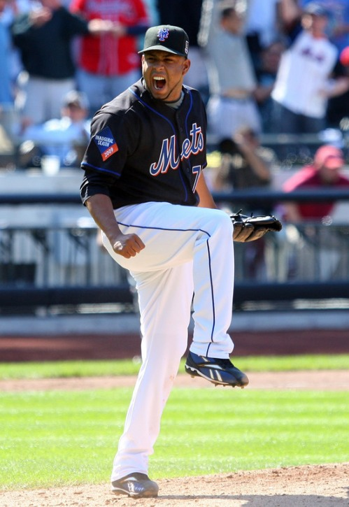 Yet another overzealous celebration brought to you by Francisco Rodriguez